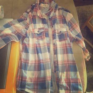 Women's Plaid Shirt Sz XL